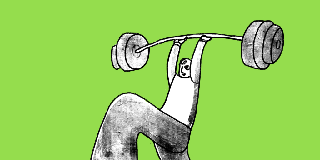 illustration of a man lifting a barbell